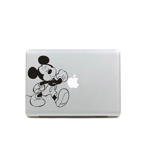 Decalandsticker Vinyl Macbook Hitam vinyl decal sticker skin happy mickey black and white