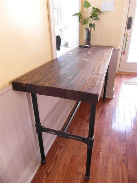 diy console table pipe legs diy console table with pipe legs woodworking projects