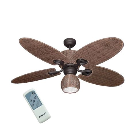 ceiling fan by hamilton with light remote palm leaf blades