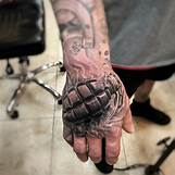 Skeleton Hand Grenade Tattoo | 640 x 640 jpeg 50kB