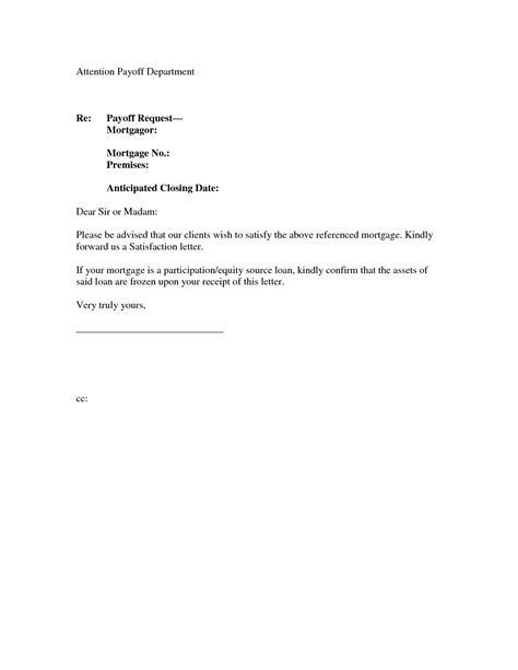 Mortgage Payoff Letter Form Best Photos Of Payment Statement Letter Overdue Payment
