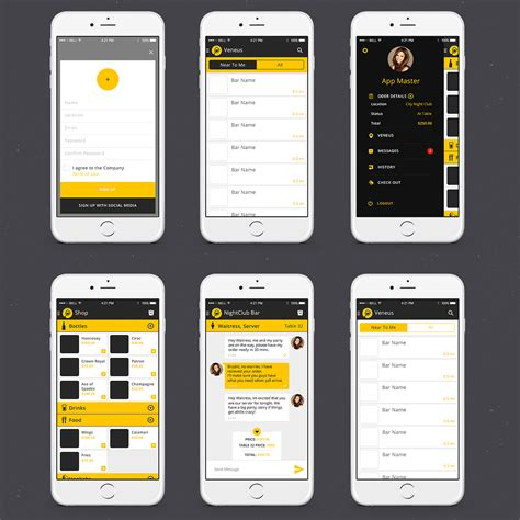 designcrowd mobile app elegant playful app design for instant communication inc