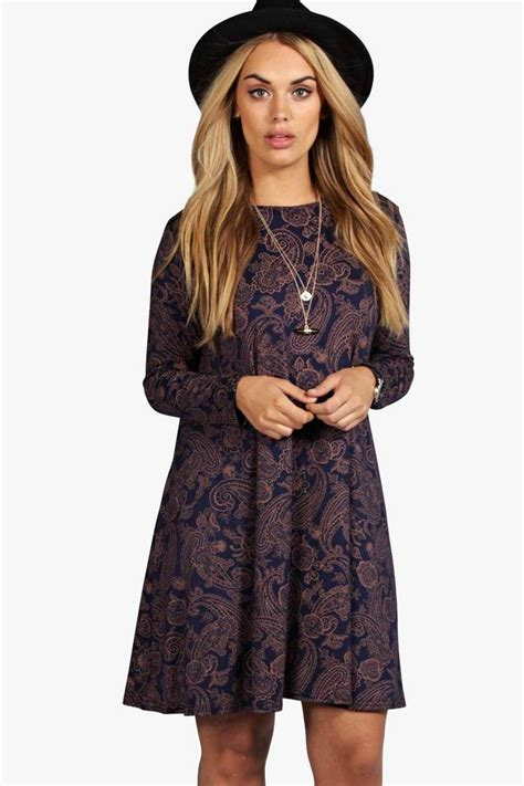 swing dresses plus sleeve swing dress boohoo
