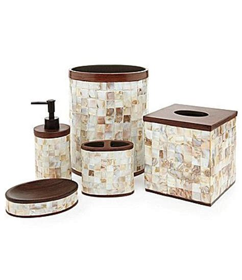mother of pearl bathroom accessories mother of pearl bath accessories for the home pinterest
