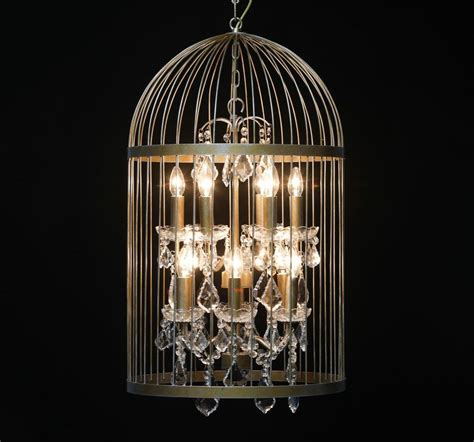 Birdcage Chandelier Bird Cage Chandelier In Antique Gold Large