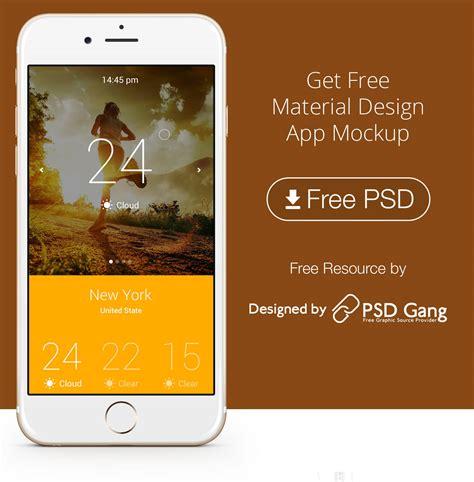 Material Design App Mockup | get free material design app mockup psd