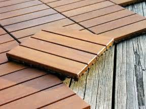 outdoor wood deck floor tiles