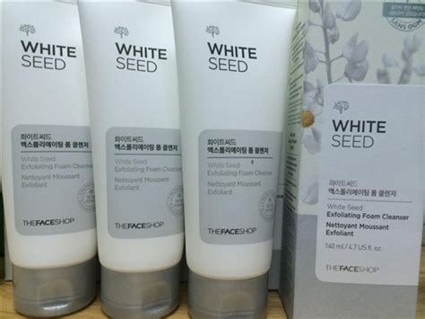 The Shop White Seed Exfoaliating Cleanser sữa rửa mặt trắng da white seed exfoliating foam cleanser thefaceshop the shop 360 mỹ