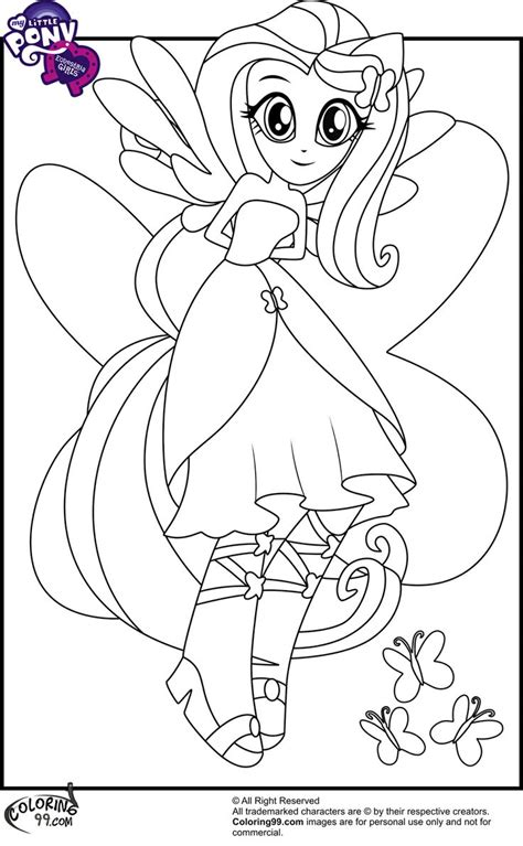my little pony doll coloring pages fluttershy equestria girl colouring for the girls