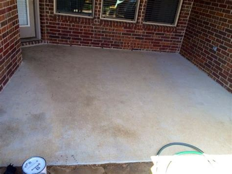How Should A Concrete Patio Be by Stained Concrete Patio What Should Accent Stain Color Be