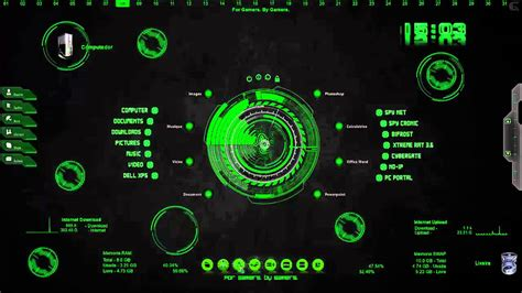 pc zone themes razer rainmeter skin windows 10 7 8 8 1 youtube