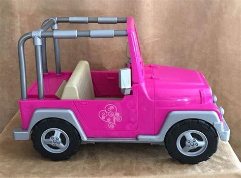 details   generation doll og pink jeep vehicle fits  american girl american girl