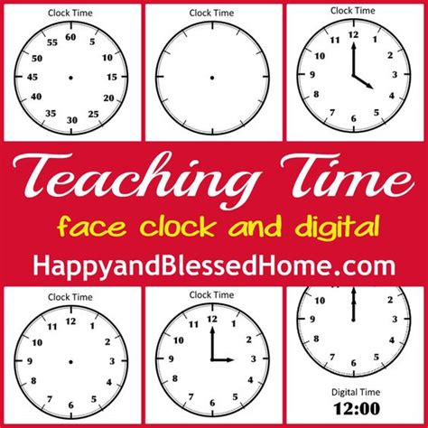 clock template for teaching time tell time preschool learning teaching time blank clock