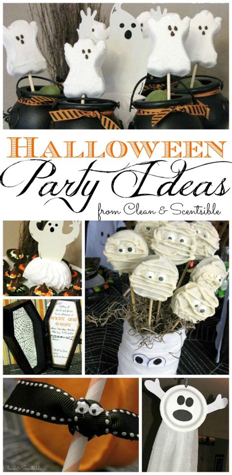 Halloween Party Ideas - Clean and Scentsible Halloween Crafts For Kids Ghosts