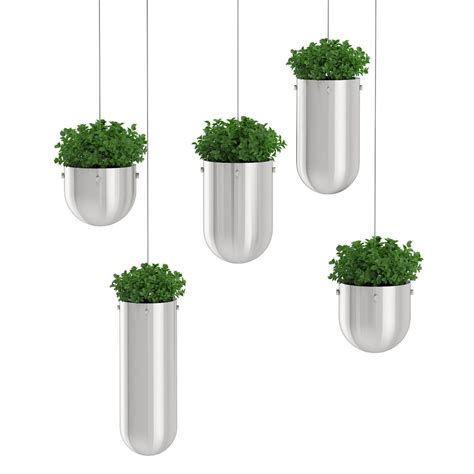 pots for plants plants in metal hanging pots 3d model max obj fbx c4d mtl