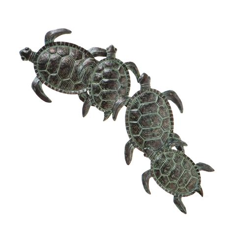 Outdoor Metal Turtle Wall