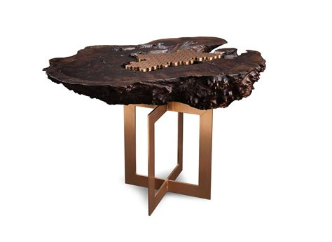 Burl Wood Side Table Studio Roeper