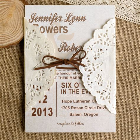 Country Themed Wedding Invitations by Diy Lace Wedding Invitations Starting From 1 79 At