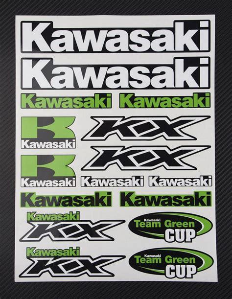 Kawasaki Stickers by Kawasaki Kx Universal Logo Decals Kit Moto Sticker