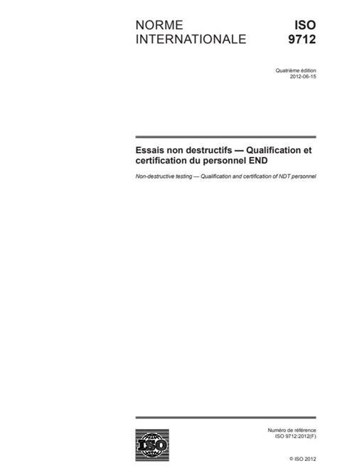 ISO 9712:2012 - Non-destructive testing -- Qualification