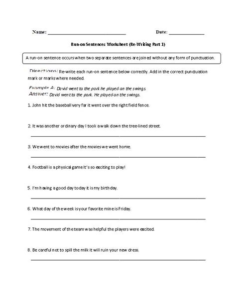 Sentence Fragment Worksheet Pdf by 18 Fragments And Run On Sentences Worksheet Unit 3