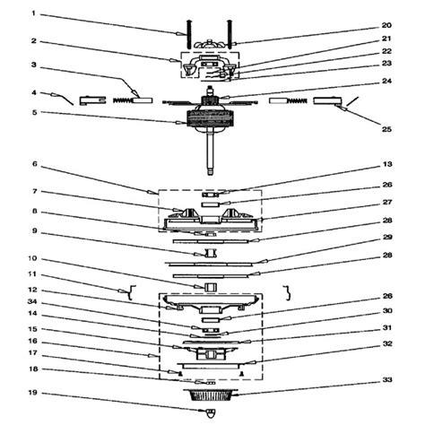 rainbow vacuum parts diagram rexair rainbow d4 se repair parts diagrams