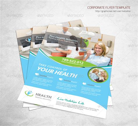 Health Medical Care Corporate Flyer By Katzeline Graphicriver Corporate Wellness Template