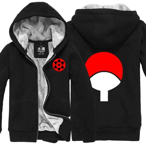 Sweater Narutojaketzipperhoodie uchiha sasuke cotton padded jacket hoodie