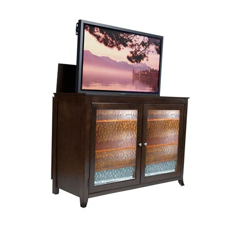 Flat Screen Lift Cabinet by Espresso Tv Lift Cabinet For Flat Screen Tvs Up To 60 Quot