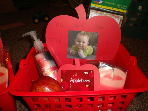 apple of my eye gift basket for daycare teachers things