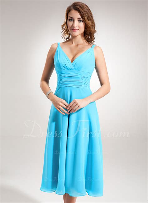 a linie v ausschnitt wadenlang spitze brautjungfernkleid mit scharpe band blumen p410 a linie princess linie v ausschnitt wadenlang chiffon