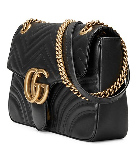 Replica Gucci Marmont gucci gg marmont 2 0 medium quilted shoulder bag black