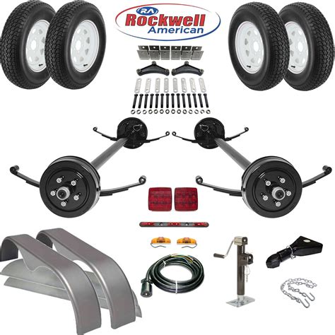 axle parts tandem brake axle trailer parts kit 7 000 lb capacity