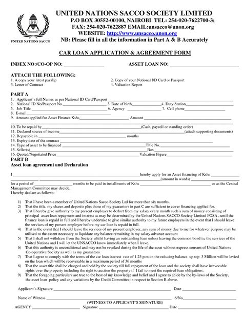 car loan agreement template best photos of car loan agreement template car loan