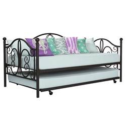 Metal Daybed Frame Bronze Iron Metal Daybed Frame With Trundle Size Bed Bunk Antique Furniture Ebay