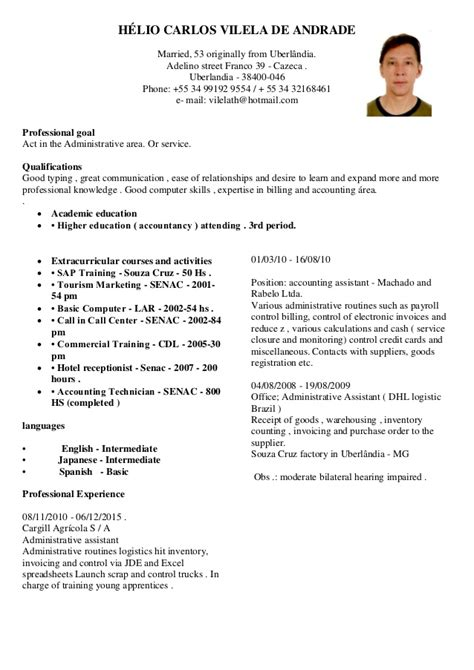 Modelo Curriculum Vitae No Brasil Curriculum Vitae 07 01 2016 3