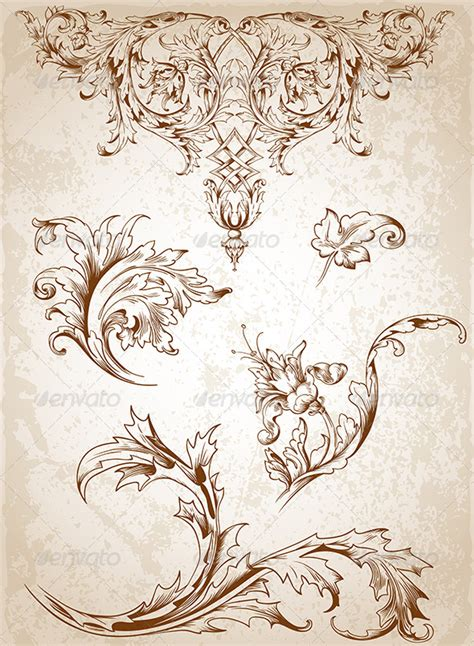 victorian pattern tattoo vintage victorian floral elements vintage images