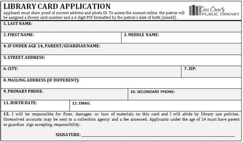 Library Card Application Form Template by Library Card Application Jpg 734 215 432 Wedding