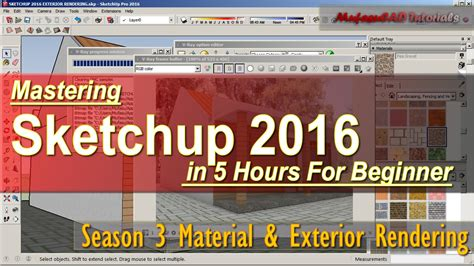 vray sketchup tutorial for beginners sketchup 2016 exterior rendering vray tutorial for