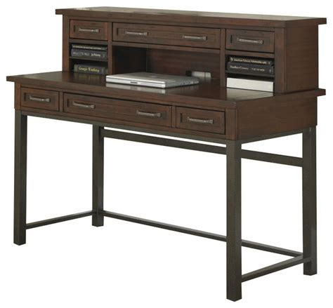 cabin creek corner l desk home styles cabin creek executive desk and hutch in