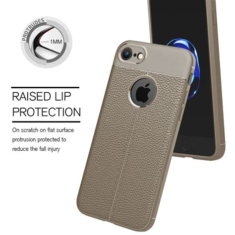 360 176 protective shockproof soft leather rubber pc cover for iphone 8 8 plus ebay