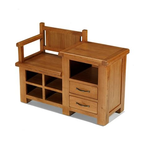 Emsworth Oak Hall Shoe Storage Bench Lifestyle Furniture Uk