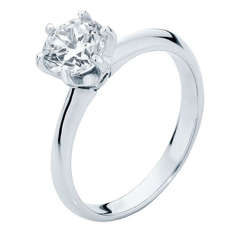 solitaire engagement ring white gold elegance