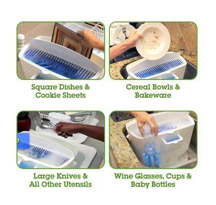 Rak Dapur Serbaguna Pisau Sendok Garpu Praktis Alat Pencuci Piring Easy Dish Bersihkan Piring Dalam