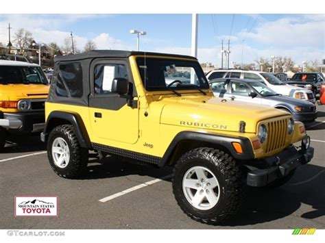 light yellow jeep 2006 solar yellow jeep wrangler rubicon 4x4 56451468