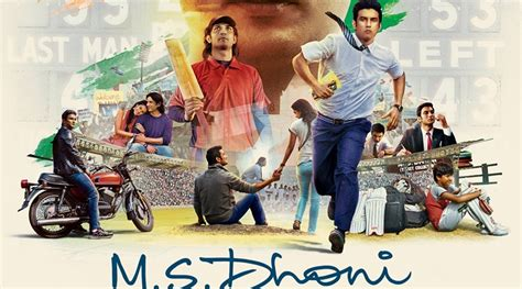 dhoni biography movie name ms dhoni official poster out on his 35th birthday shows