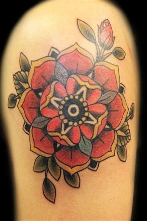 american traditional flower tattoo neotraditional flower ideas flower