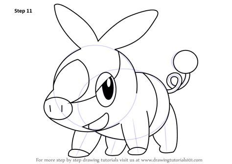 learn how to draw tepig from pokemon pokemon step by