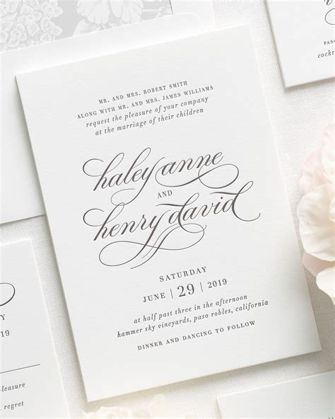 Wedding Invitations Tx by Wedding Invitations El Paso Mini Bridal