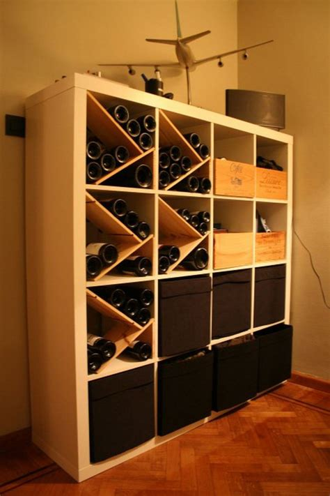 hack storage 25 ikea kallax or expedit shelf hacks kallax hack wine